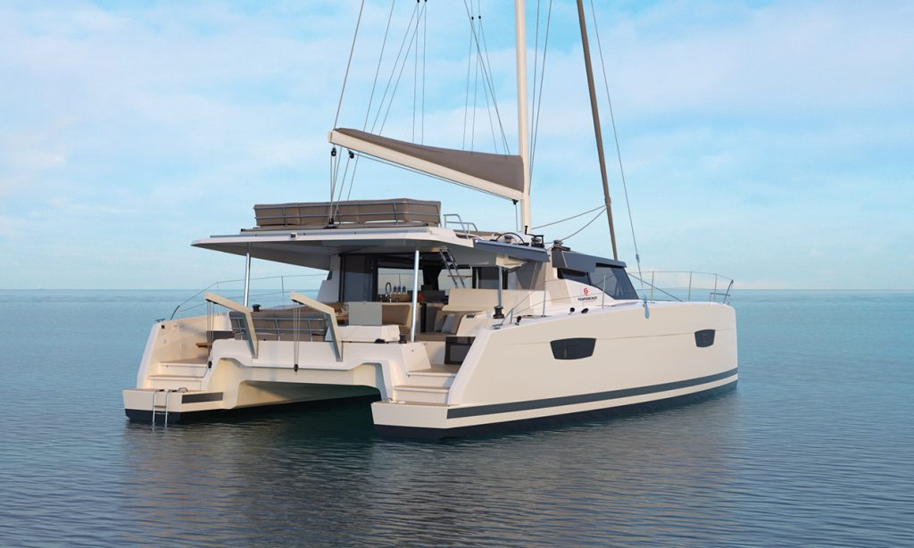 Catamaran à voile New 45 de chez Fountaine Pajot