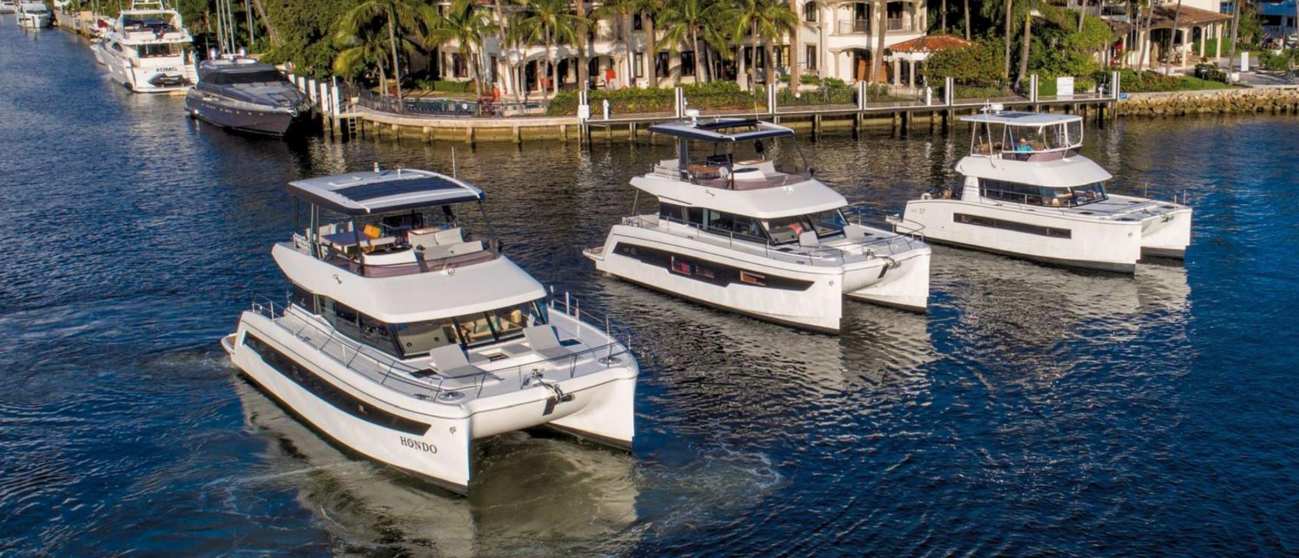 Les Moteur Yachts Fountaine-Pajot à l'essai